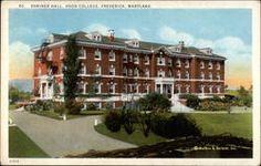 Frederick MD Shriner Hall Hood College ca Hood College, Social Security Office, Frederick Maryland, School Calendar, Restaurant Guide, Felder, Parks And Recreation, Vintage Postcards, 1920s
