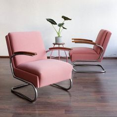 Functionalist Cantilever Armchairs by Willem Hendrik Gispen for Mücke Melder, 1930s, Set of 2 for sale at Pamono
