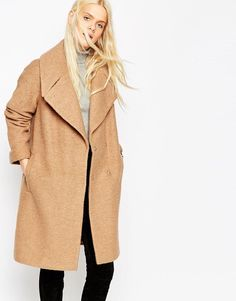 ASOS   ASOS Coat in Oversized Fit with Turn Back Cuff at ASOS
