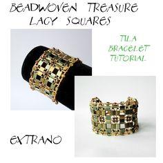 Lacy squares - Tila Bracelet | JewelryLessons.com