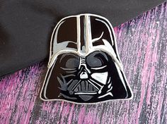 Stained Glass Brooch Darth Vader Glass Art Jewelry