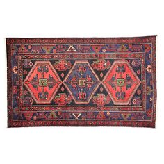 Persian Hamadan Rug, 4'2 x 6'10