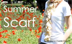 summer scarf tutorial
