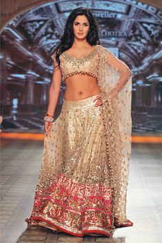Katrina Kaif Kat set the ramp on fire walking for Manish Malhotra