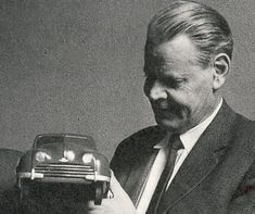 Sixten Sason, designer of the Saab 92, 93, 95, 96, 99 and the Saab Sonett as well as the infamous first Hasselblad camera. Picture taken in 1959.