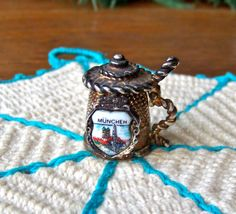 Vintage Beer Stein Thimble Munchen Germany by cynthiasattic, $35.00