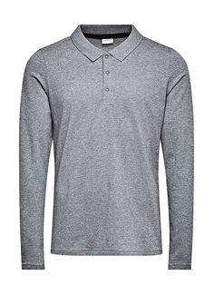 PREMIUM by JACK & JONES - Langärmeliges Polo-Hemd von PREMIUM - Slim fit - Standardkragen mit Schnappknöpfen - Bündchen und Saum sind gerippt - Piqué-Qualität 95% Baumwolle, 5% Elasthan...