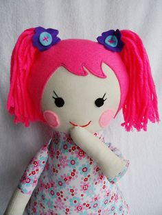 hand-made rag doll, cloth doll, made of cotton. Safe toy for your child