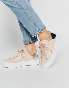 ASOS+DOWNTOWN+Lace+Up+Flatform+Trainers
