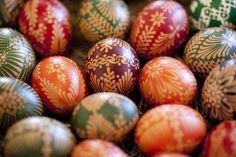 Easter eggs in Hoyerswerda, Germany