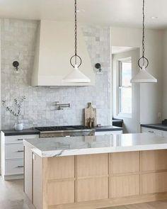 Cheap Home Decor .Cheap Home Decor Interior Modern, Home Interior, Kitchen Interior, Kitchen Decor, Kitchen Ideas Light Wood Cabinets, Light Wood Kitchens, Wood Kitchen Island, Concrete Kitchen, Modern Kitchen Cabinets