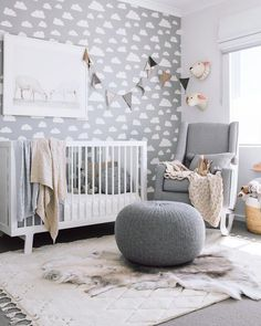 ideas for baby room unisex nursery inspiration Baby Nursery Neutral, Gender Neutral Baby, Baby Nursery Decor, Nursery Themes, Baby Decor, Nursery Room, Neutral Nurseries, Baby Bedroom Ideas Neutral, Unisex Nursery Ideas
