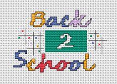 Back 2 School free cross stitch pattern