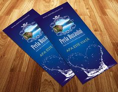 Clean, fresh flyer for a bottled water producer from Romania, in