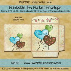 diy mother s day gift ideas printable tea bag greeting card envelopes teas and bag. Black Bedroom Furniture Sets. Home Design Ideas
