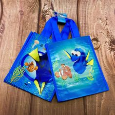 Finding Dory Nemo Bags X 2 New With Tags Kids Beach Garden lunch box swim pe bag Pe Bags, Kids Bags, Beach Gardens, Finding Dory, Beach Kids, Alaia, Bag Sale, First Birthdays, Lunch Box