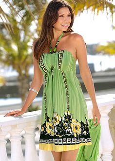 Halter print dress