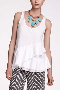 Ruffle-Crossed Scoopneck - anthropologie.com