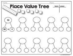Need a quick math station on place value? Put this sheet inside of a sheet protector, add dice, and use a dry erase marker! You Might Also Like:Time Rollers Dice Game FreebieFluency GameboardAdding and Subtracting NumbersSimple Book Report Second Grade Math, First Grade Math, Grade 2, Math Place Value, Place Values, Math Resources, Math Activities, Math Games, Math Classroom