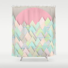 Forest Pastel Shower Curtain by Dogooder - $68.00
