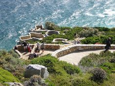 Cape Point, South Africa -- the lookout point.