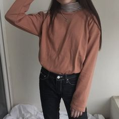 Image about girl in Kstyle by 다른 on We Heart It Ulzzang Fashion, Asian Fashion, Teen Fashion, Fashion Outfits, Womens Fashion, Grunge Style, Soft Grunge, Simple Outfits, Casual Outfits