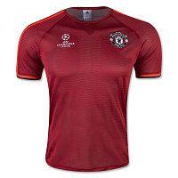 15-16 Manchester United Football Shirt Cheap Red Europa Replica Training Jersey [D764]