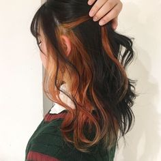 hair makeup #hairstyles #hairideas Hidden Hair Color, Hair Color Underneath, Korean Hair Color, Peekaboo Hair, Hair Color Streaks, Aesthetic Hair, Grunge Hair, Hair Looks, Dyed Hair