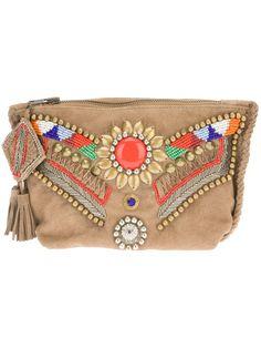 { Antik Batik embellished clutch }