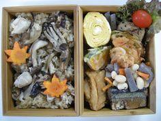 2013年09月09日 きのこと若鶏モモ肉でおこわ   圧力鍋で骨まで食べれる北海道産初秋刀魚の煮物   桜えびのかき揚げ