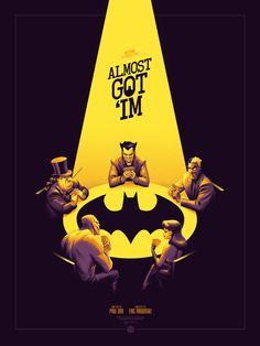 "Batman: The Animated Series - ""Almost Got 'Im"" (Variant) by Phantom City Creative – Mondo"