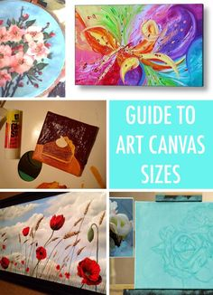 Painter's Reference: A Guide to Common Art Canvas Sizes *Good tips, like using gesso to prime canvases