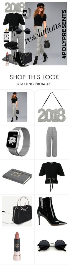 """#PolyPresents: New Year's Resolutions"" by dmg555 ❤ liked on Polyvore featuring Etophe, Carmen March, RED Valentino, Gianvito Rossi, Anastasia Beverly Hills, Jo Malone, contestentry and polyPresents"