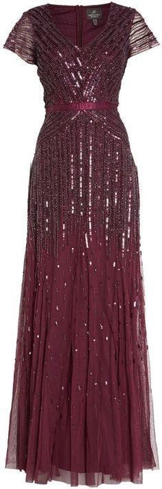 Adrianna Papell Cap sleeve mesh beaded dress on shopstyle.co.uk