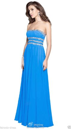 Faironly Evening Formal Bridesmaid Gown Prom Dress Stock Size 6 8 10 12 14 16