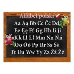 Shop Cute Professor Owl Polish Alphabet Alfabet polski Poster created by IronicOwl. Polish Alphabet, Owl School, Gifts For Professors, Design Your Own Poster, Teaching Portfolio, World Thinking Day, Personalized Wall Art, New Teachers, Custom Posters
