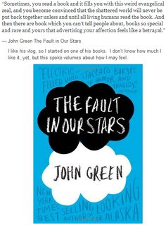 Reading List: John Green, A Fault in Our Stars - Excellent for any reader, including YA