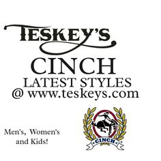 We are currently updating all our Cinch apparel on line! Check out www.teskeys.com   #Teskeys #Cinch #cinchclothing #cinchapparel #Mensclothing #womensclothing #kidsclothing