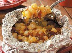 Yum... I'd Pinch That! | Three Cheese Campfire Potatoes