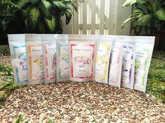Collaboration Tea Poches - Tea Favours, Wedding Favours, Gifts  Beautiful watercolour drawings on tea packaging  www.collabtea.com