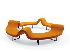 ROUND MODULAR BENCH HIGHWAY E HIGHWAY COLLECTION BY SEGIS | DESIGN BARTOLI DESIGN