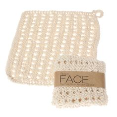 Bliss Face Cloth: Light hand-knit face cloth - Spaza Store