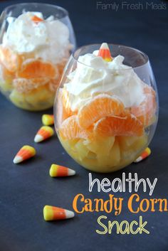 Healthy Candy Corn Fruit Parfait Recipe. Craving candy corn as Halloween nears?