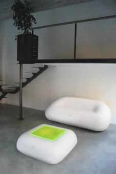 Inflatable Furniture With LED Lighting For Interior And Exterior Of FUGU  Inflatable Furniture, Ottoman Sofa