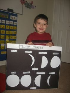 moon phase experiments for kids