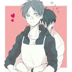 In cucina con Eren e Levi... Lo so Levi, hai fame, ma dopo di aspetta un Eren cotto cotto pronto a scopa-- *si becca un calcio da levi*
