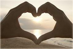 Srdce, Ruky, Západ Slnka, Pláž