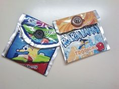 Juice Pouch Coin Purse  •  Make a carton purse in under 10 minutes