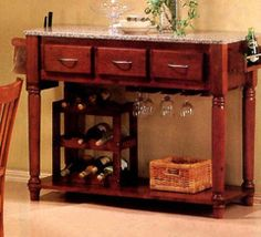 I would put this in my dining area; not for an island. And I would not use a marble top. Just a nice matching wood