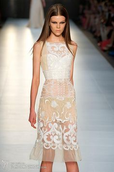 Alex Perry AW12 last night at L'Oreal Melbourne Fashion Festival. The sheer embroidery is just stunning!